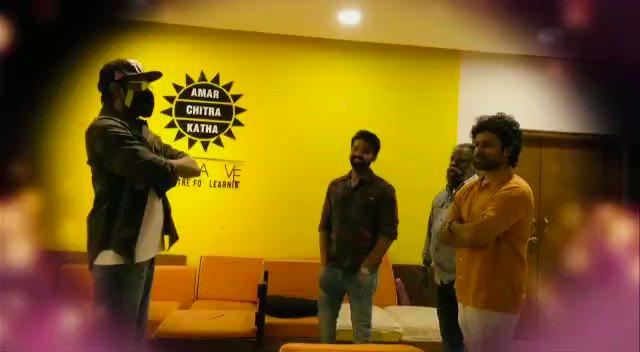 Glimpses from the First Look launch of Mystery Thriller #WWWmovie by @RanaDaggubati  @Rshivani_1 @kvguhan @simonkking @priyadarshi_i @RamantraCreate @VijayDharan_D @DrRaviPRaju @Satyamrajesh2 @harshachemudu @SMTollywood @baraju_SuperHit @adityamusic