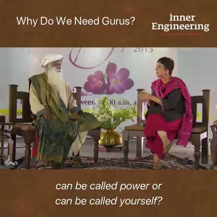 Why do we need gurus?