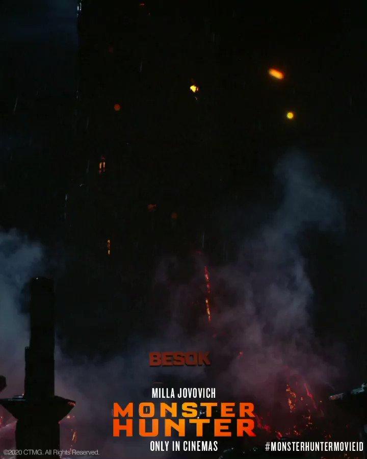 Buat yang kangen nonton film layar lebar nih. Besok! Tayang di bioskop. #MonsterHunterMovieID