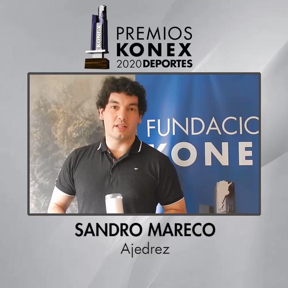 ♟El ajedrecista @SandroMareco obtuvo el #PremioKonex 2020 como uno de los mejores de la última década en #Argentina.   🏆Compartimos sus palabras tras recibir el Premio Konex 2020.  Aquí su biografía en nuestra web 👇   #ajedrez #chess #grandmaster