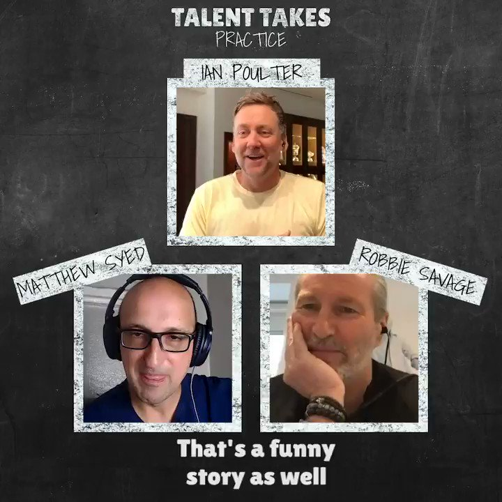 """""""I actually had a couple of trials with #THFC and they said I wasn't very good!""""   It all could have been SO different for #Arsenal fan @IanJamesPoulter ⚽️  🎙 #TalentTakesPractice 🎧"""