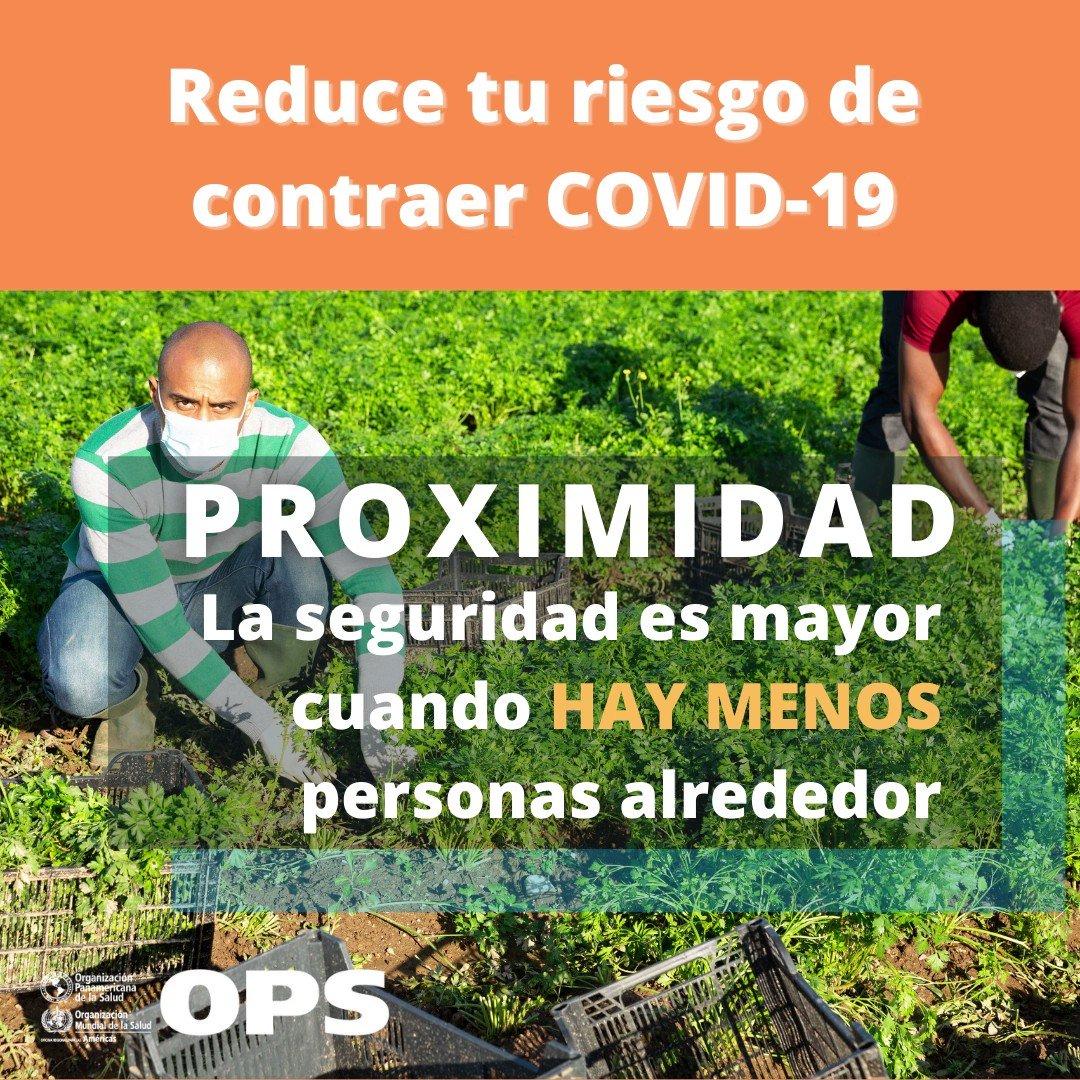 👉🏾 Reduce tu riesgo de contraer #COVID19   La seguridad es ⬆️ cuando hay ⬇️ personas alrededor.