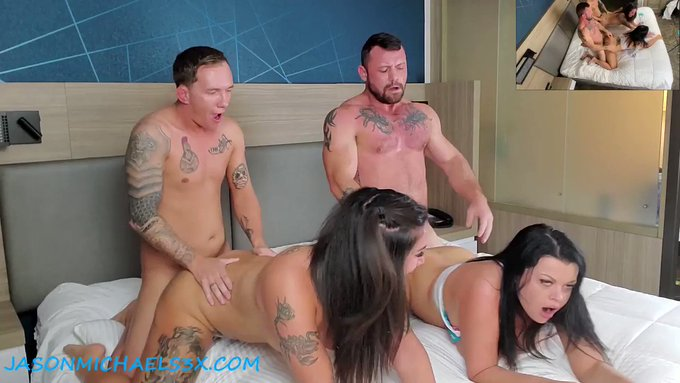 Want a little sneak peak at the hot foursome me and @nadiawhitexxx did this past weekend with @sergeant_porn