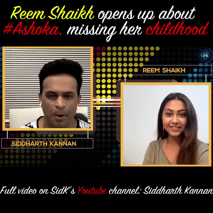 . @reem4you OPENS UP ON #Ashoka and her childhood!!!  Catch the full candid conversation with #ReemShaikh only on my @YouTubeIndia channel:   Don't forget to like, share and subscribe!!  #Sidk #SiddharthKannan #reemsameer #reemsameershaikh #Bollywood