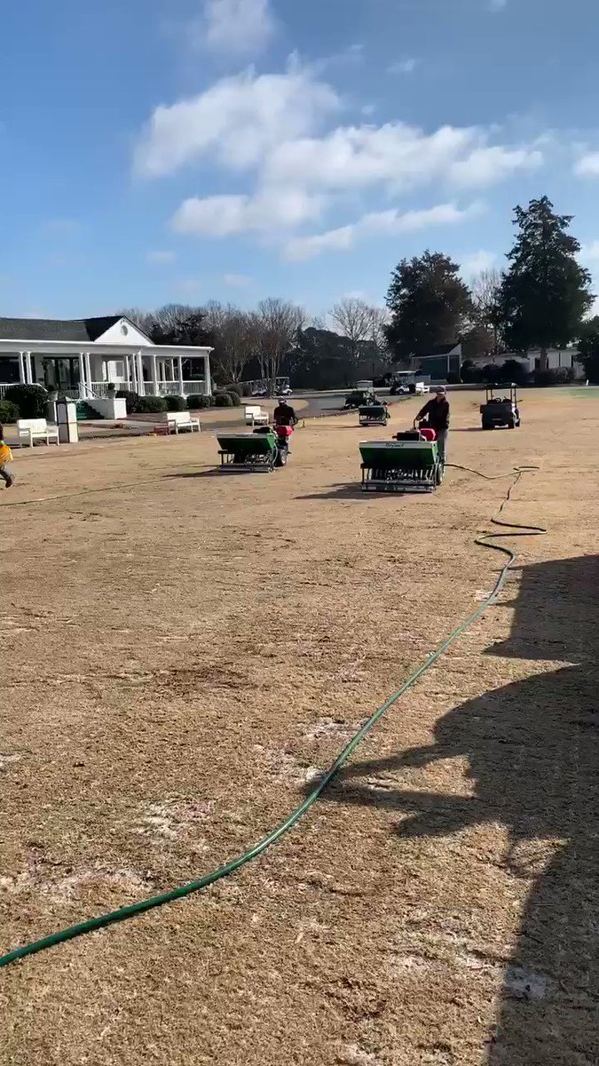 Image for the Tweet beginning: Driving range tee box is
