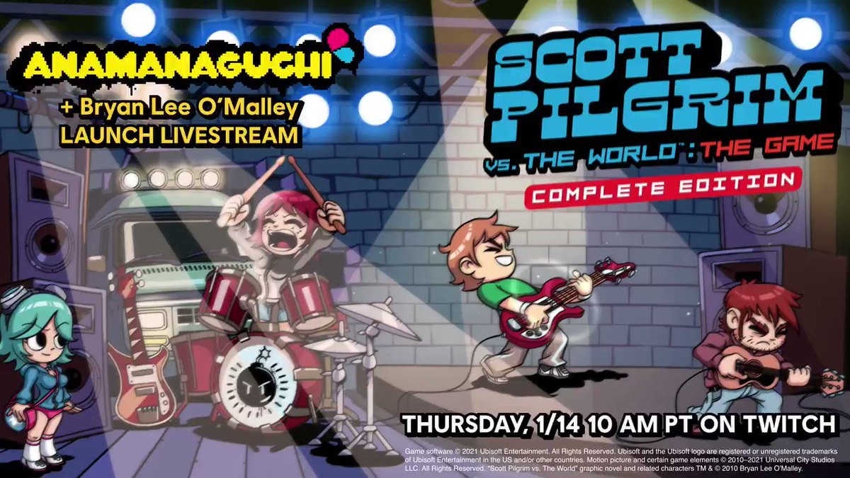 Replying to @anamanaguchi: SURPRISE  launch day concert on @Ubisoft's stream :)  1/14 10AM PT