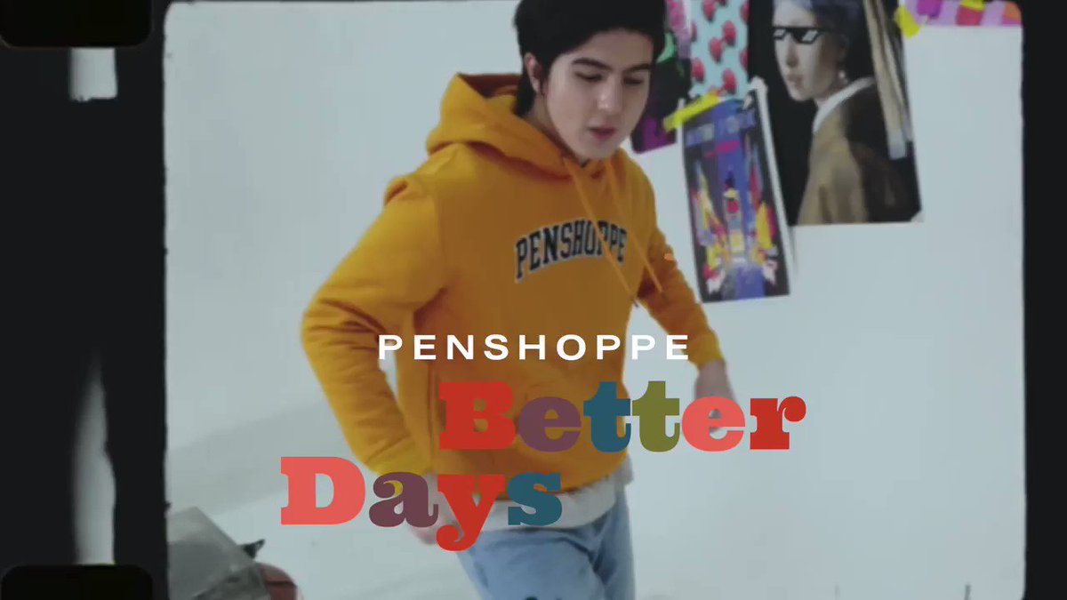 On today's list: rock this year's colors and put on our favorite records to dance along with 🌻💿   Club Pen's Mavy Legaspi wears:  Hoodie P999 Jeans P999 Bum Bag P499  Shop his look here:   #PenshoppeBetterDays