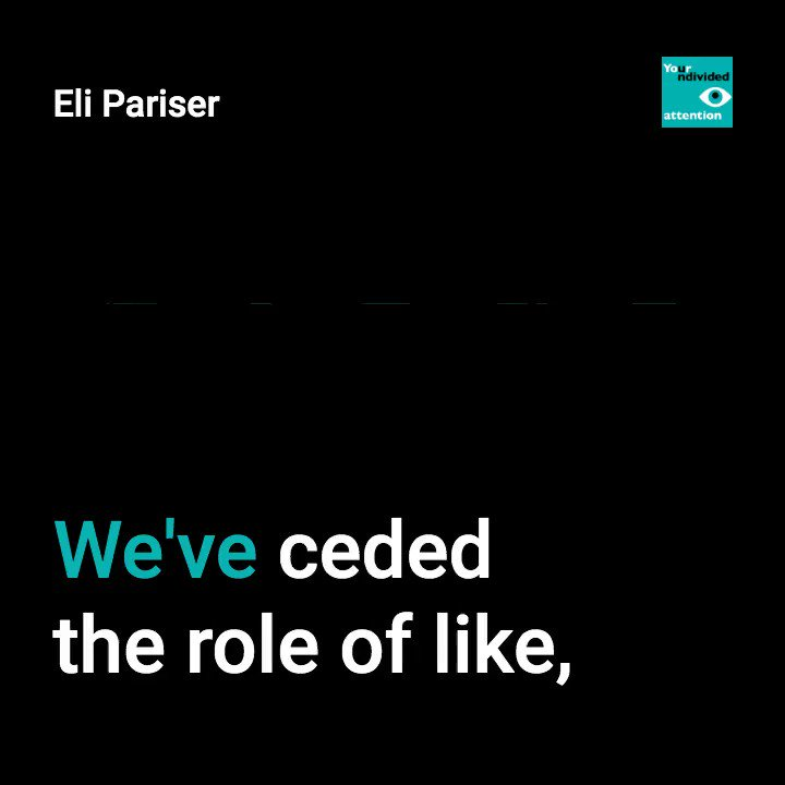 Our latest podcast guest, @elipariser, co-director of @WeAreNew_Public and co-founder of @Avaaz, has been thinking for years about how to create more functional online spaces and is bringing people together to solve that problem (48 min. listen):