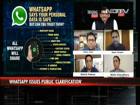 #WhatsappPrivacy: Concerns over user data, many switch to other apps  @nixxin @jiten_jain @apar1984 @MishiChoudhary  Watch more here:   #WhatsAppPrivacyPolicy #WhatsappNewPolicy