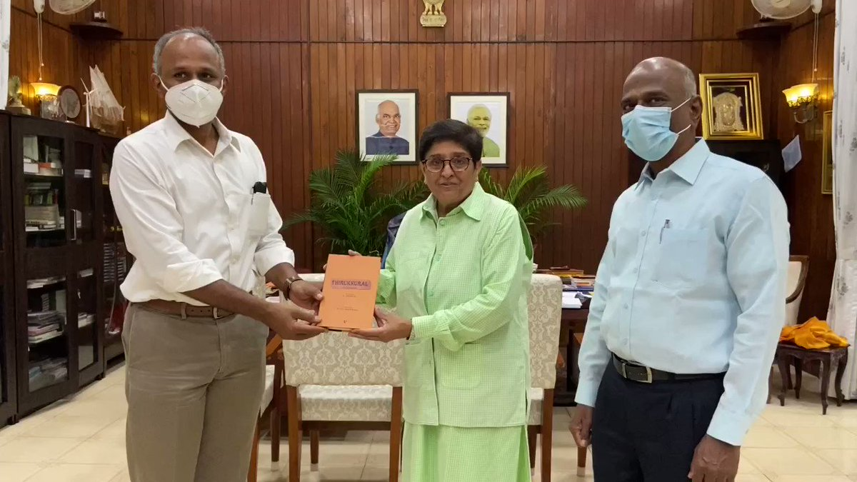 """""""Puducherry is Heaven"""" Said Shri Anbarasu IAS who today moves on to become Advisor to Administrator Lakshadweep. He worked intensively in coordinating COVID measures. Besides his other duties.  We wish him well.  @BhallaAjay26 @AmitShah @AshwaniKumar_92"""