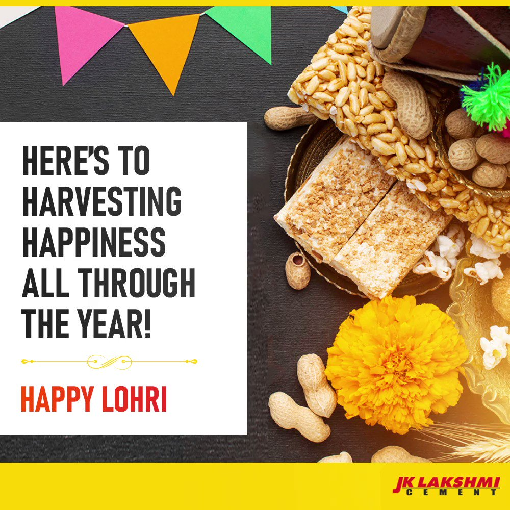 JK Lakshmi Cement wishes you an auspicious and prosperous Lohri! #HappyLohri2021