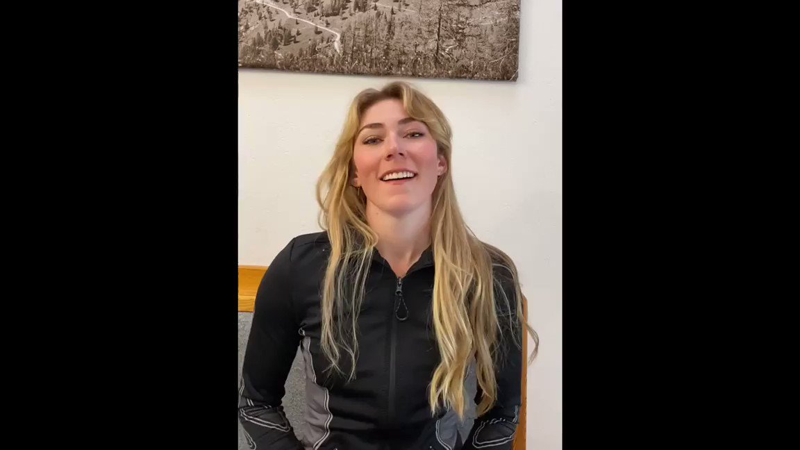 Champion @MikaelaShiffrin awards @kindnesswinsfnd Medal of Kindness to Breanna White- a medical health care worker @saintalphonsus who has been outside in the snow, wind & rain swabbing noses for months. Thank you Breanna! 👏