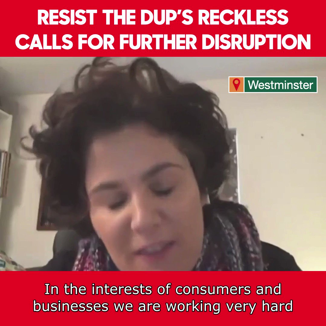 The DUP spent years saying no to every reasonable attempt to soften Brexit - no one believes their blame game now.  We need to work with businesses, and with the EU, to mitigate the impact of the Brexit that others have delivered.  @ClaireHanna pressed Michael Gove on this today.