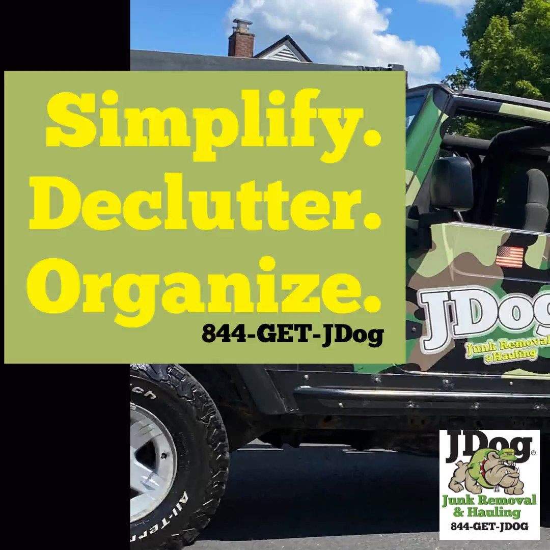 Get organized this year. Call 844-GET-JDog. We clean out cluttered #basements, #garages, and #attics.  #JDog #JunkRemoval #Hauling #NewYear #2021