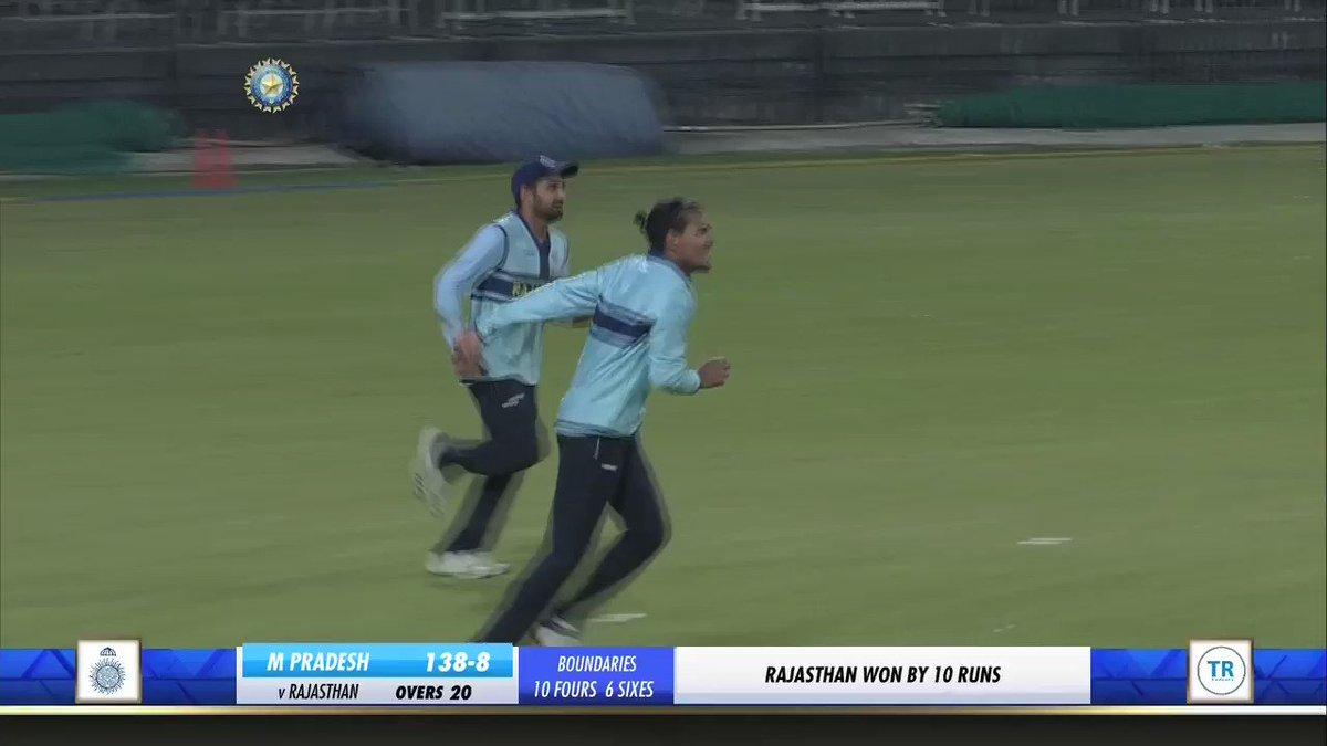 .@rdchahar1 starred with the ball while Mahipal Lomror scored a half-century as Rajasthan beat Madhya Pradesh by 10 runs in Indore. 👍👍 #MPvRAJ #SyedMushtaqAliT20  Scorecard 👉