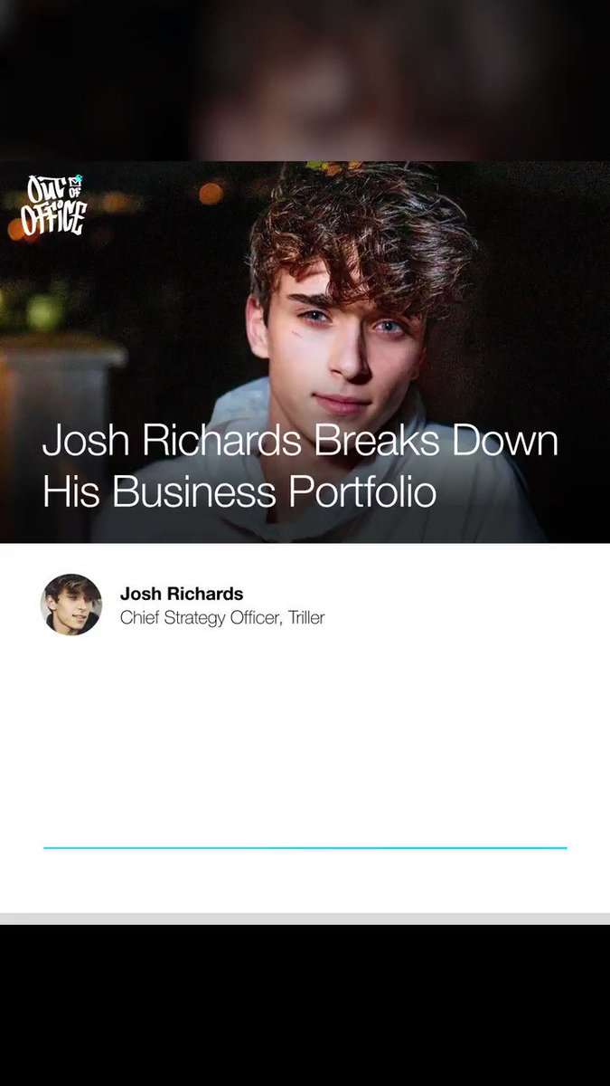 What's it like being a digital entrepreneur, angel investor, social media personality AND Chief Strategy Officer for @triller at 18 years old? @JoshRichards shares his story on a new episode of #OutOfOffice w/ @richkleiman → https://t.co/buiYCf0vFT https://t.co/mM2Pz4XyAo