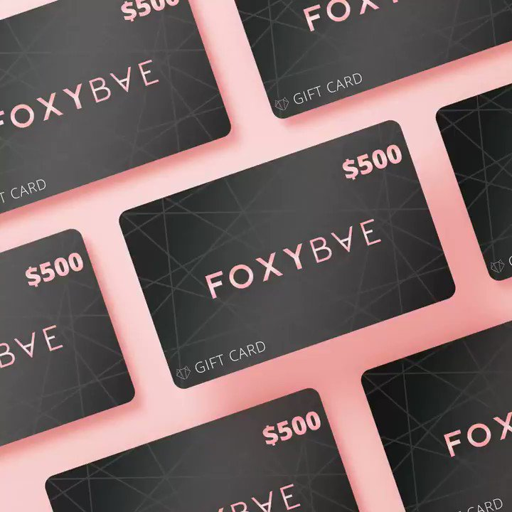 GIVEAWAY TIME✨ We're giving away (2) $100 FoxyBae Gift Cards to help you SLAY the new year 😉  To win: ✨Follow us ✨Like & RT ✨Let us know what you'd use your gift card on! 👇🏼  Two winners chosen at 5pm PST 🥰 Goodluck baes!!!