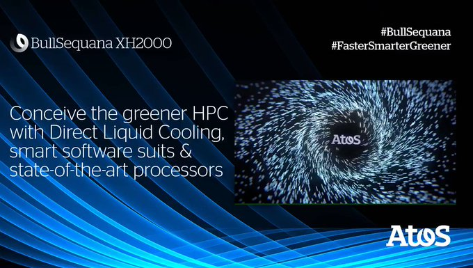 The Atos #BullSequana XH2000 #supercomputer and its compute blades are 100% water-cooled...