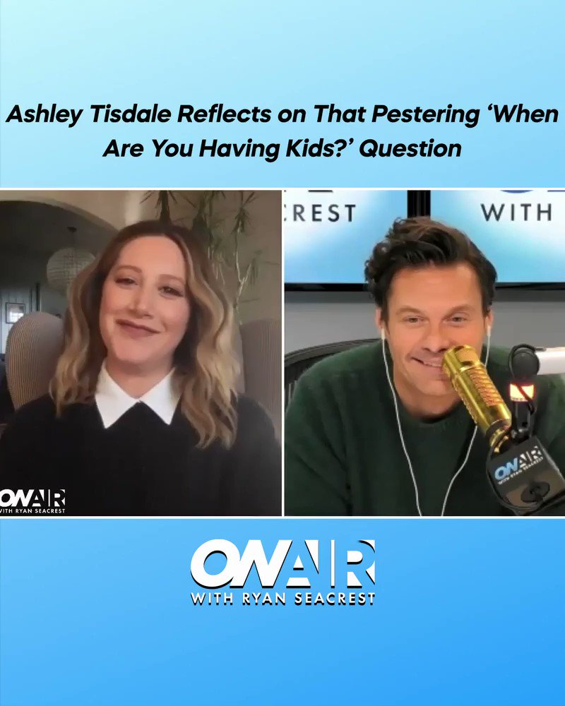 Raise your hand if you can relate 🙋‍♀️ 🙄 Thanks for joining us @ashleytisdale and CONGRATS! 🤰 Watch back the full interview with @RyanSeacrest here: