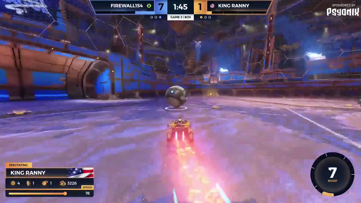 RocketLeague - Pain 😩  @KingRannyRL can only watch as the ball sails into his net 😭 #SMUG   📺: