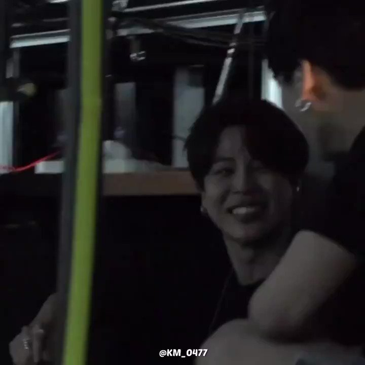 jimin looking at jungkook with the biggest smile on his face after the rosebowl moment 🥺
