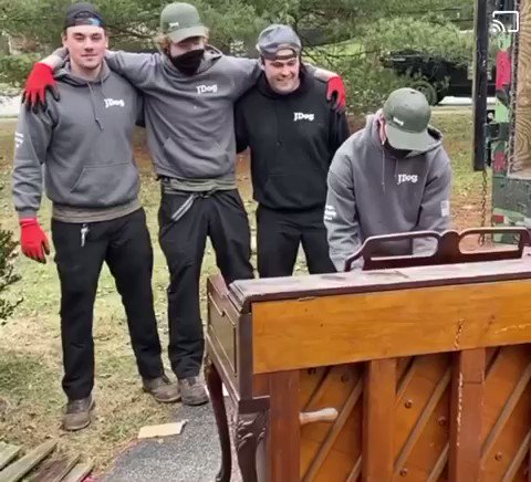 The team at JDog Junk Removal & Hauling Collegeville  took a moment today to recognize the great memories this piano provided its family. They gave it a proper salute to a job well done! 🎹