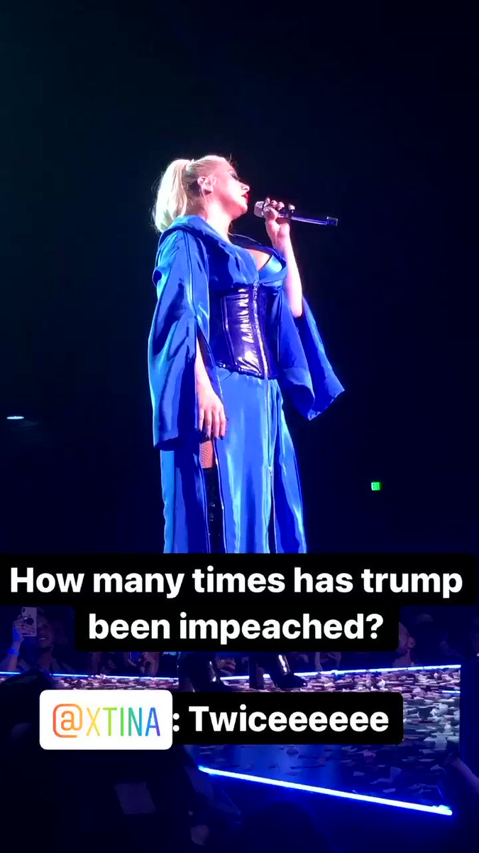 How many times has trump been #impeached ? @xtina 😂