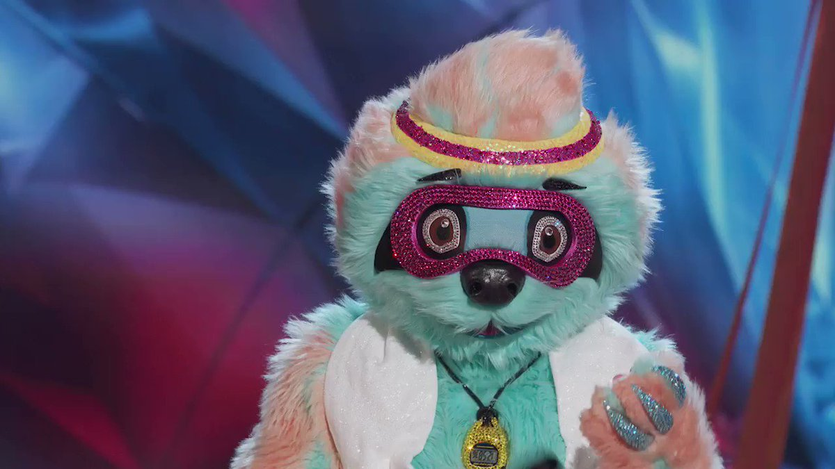Awww Sloth I'll slow dance with you tonight! Tune in for an all new @MaskedDancerFOX now! #TheMaskedDancer