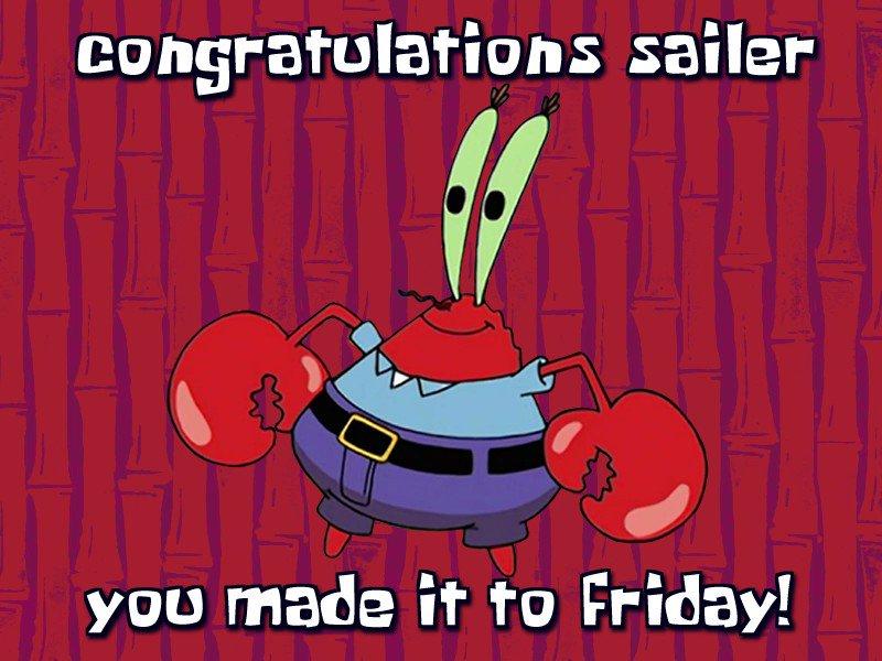 Congrats Sailer, You Made It To Friday! (@FridaySailer) on Twitter photo 15/01/2021 13:12:39