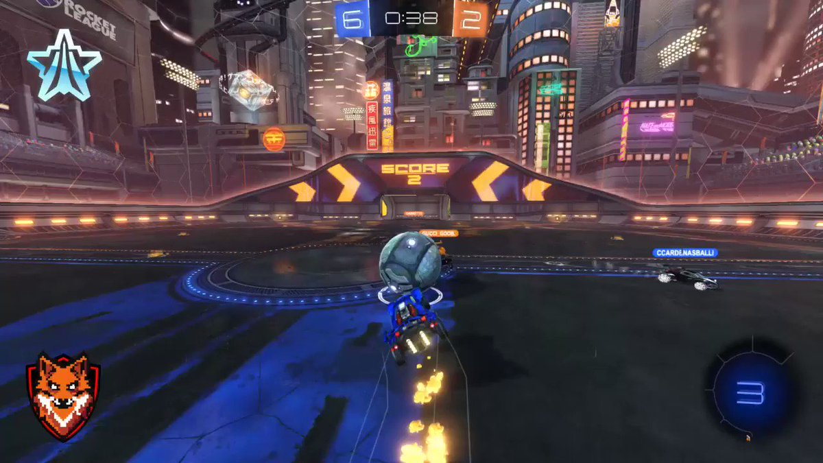 I'm not entirely sure how I was able to pull this off, but it worked and it possibly can't be replicated anytime soon. #RocketLeague #2v2