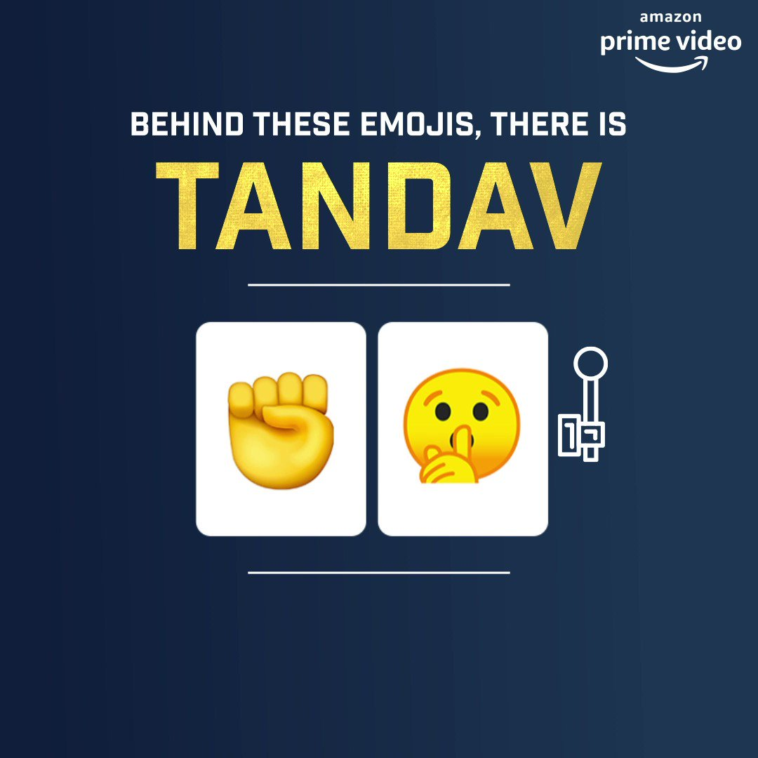 Unlock the real faces of Tandav with the power of these emojis.  😈🤫🧠👑💣✊  Reply with #TandavOnPrime and a pair of any two emojis from above to unlock the many gritty faces of the show. It's time to unleash the power!