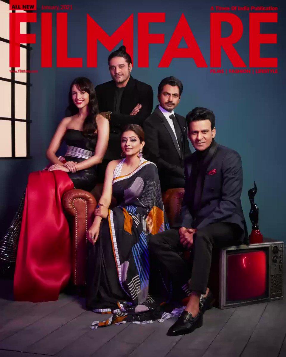 Presenting the winners of the #FlyxFilmfareOTTAwards on our January cover.   Download your copy of the issue now:   @BajpayeeManoj @Nawazuddin_S #Priyamani @JaideepAhlawat @tripti_dimri23   📸 @meeteshtaneja