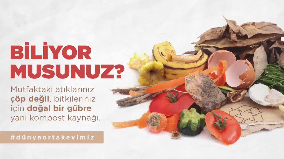 Mutfak atıklarımız çöp değil, doğal gübre olsun. Çevre kirliliğini önleyelim! #DünyaOrtakEvimiz