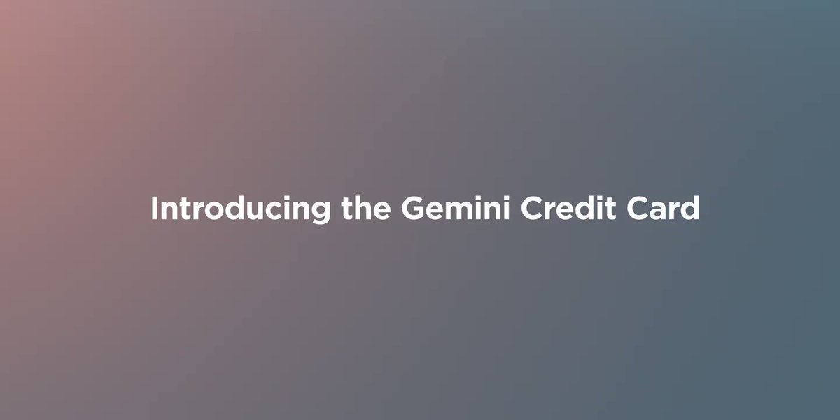 Big news from @Gemini today!