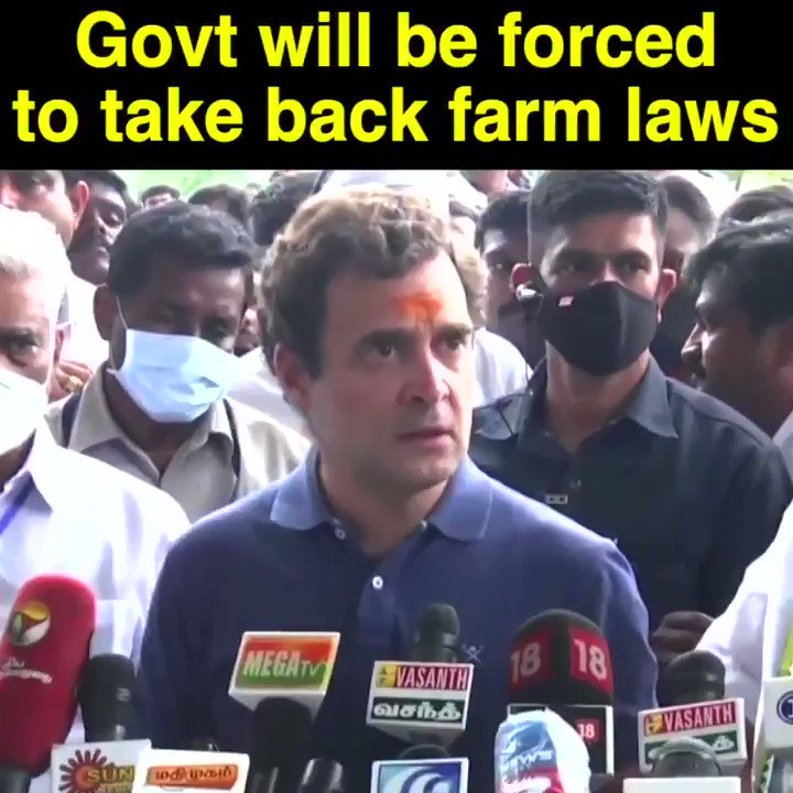 Mark my words, the Govt will have to take back the anti-farm laws.
