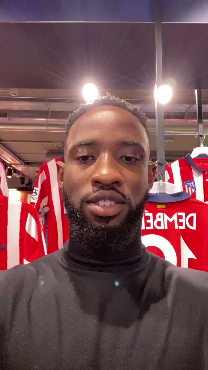 🔴⚪ #WelcomeDembélé   There's a new kid in town – and he has a message for you! 🤩  🏧 #AúpaAtleti | @MDembele_10