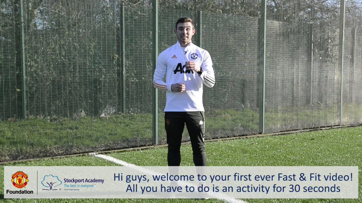 Introducing the first of our #FastAndFit challenges! Mr McWilliam will be posting these twice a week - see how many steps you can fit into 30 seconds! Thanks to @MU_Foundation for providing prizes for the best entries - see the end of the video for details how to enter!
