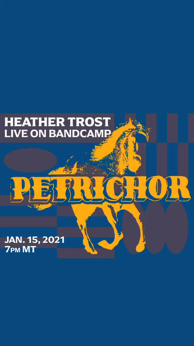 "Tune in on Thursday, Jan 15 at 7pm MT/8pm CST as @heathertroster (@thirdmanrecords) and her band perform songs from ""Petrichor"" live from Sister in Albuquerque, New Mexico exclusively for @Bandcamp."