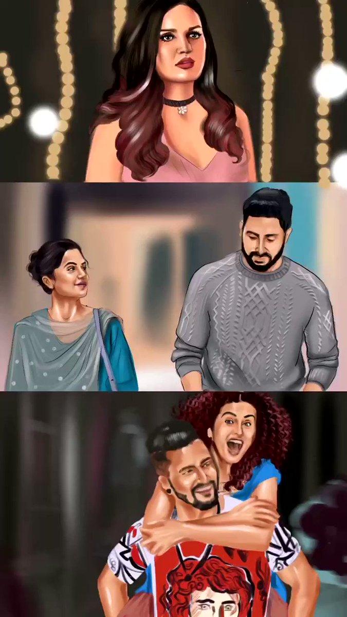 Illustrated and animated @taapsee @juniorbachchan @realhimanshi for #mannbharrya vs #daryaa by @BPraak @AmmyVirk @basuanurag @ipritamofficial #Taapsee #abhishekbachchan #himanshikhurana #bpraak #VickyKaushal #digitalart #digitalillustration #procreate #procreateanimation