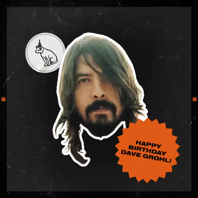 Wishing the legendary Dave Grohl a happy birthday!