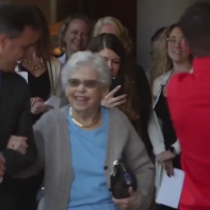 There's no Mr. Rogers without Joanne Rogers. ❤️  The widow of the television icon died today at 92, according to @KDKA. 🙏  Last year, the staff at Pittsburgh's Magee Women's Hospital serenaded her during a visit.