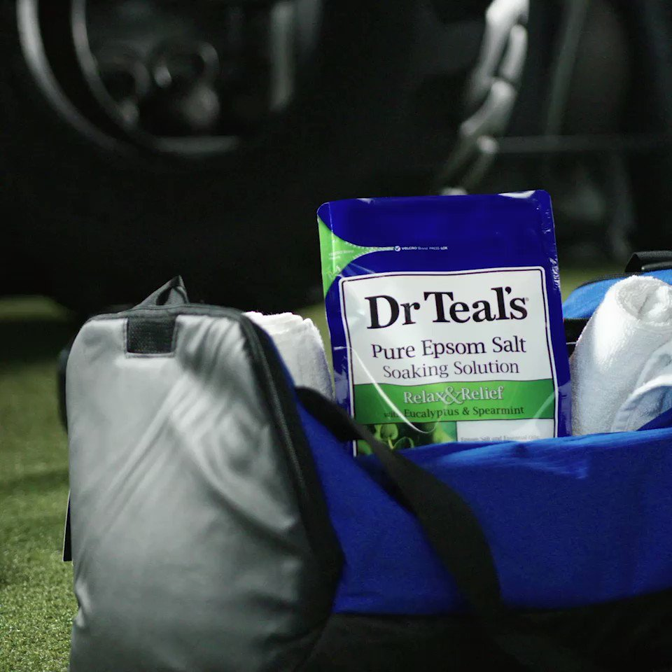 #ad When you put in the work, it pays off. Proud of this team and our work to get this far in the playoffs. I'm getting ready by staying focused and soaking in @DrTeals Epsom Salt to help recharge my muscles.