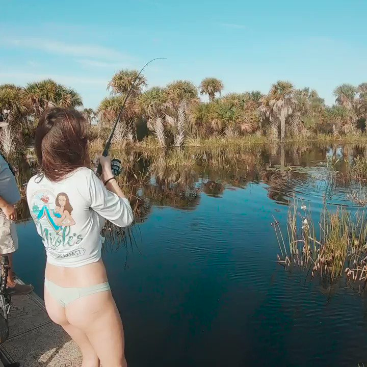 Nicole Spenc goes bass fishing in Osceolo, Florida. Check it out on our YouTube Channel:    #GirlsWhoFish #WayOfTheWaterman