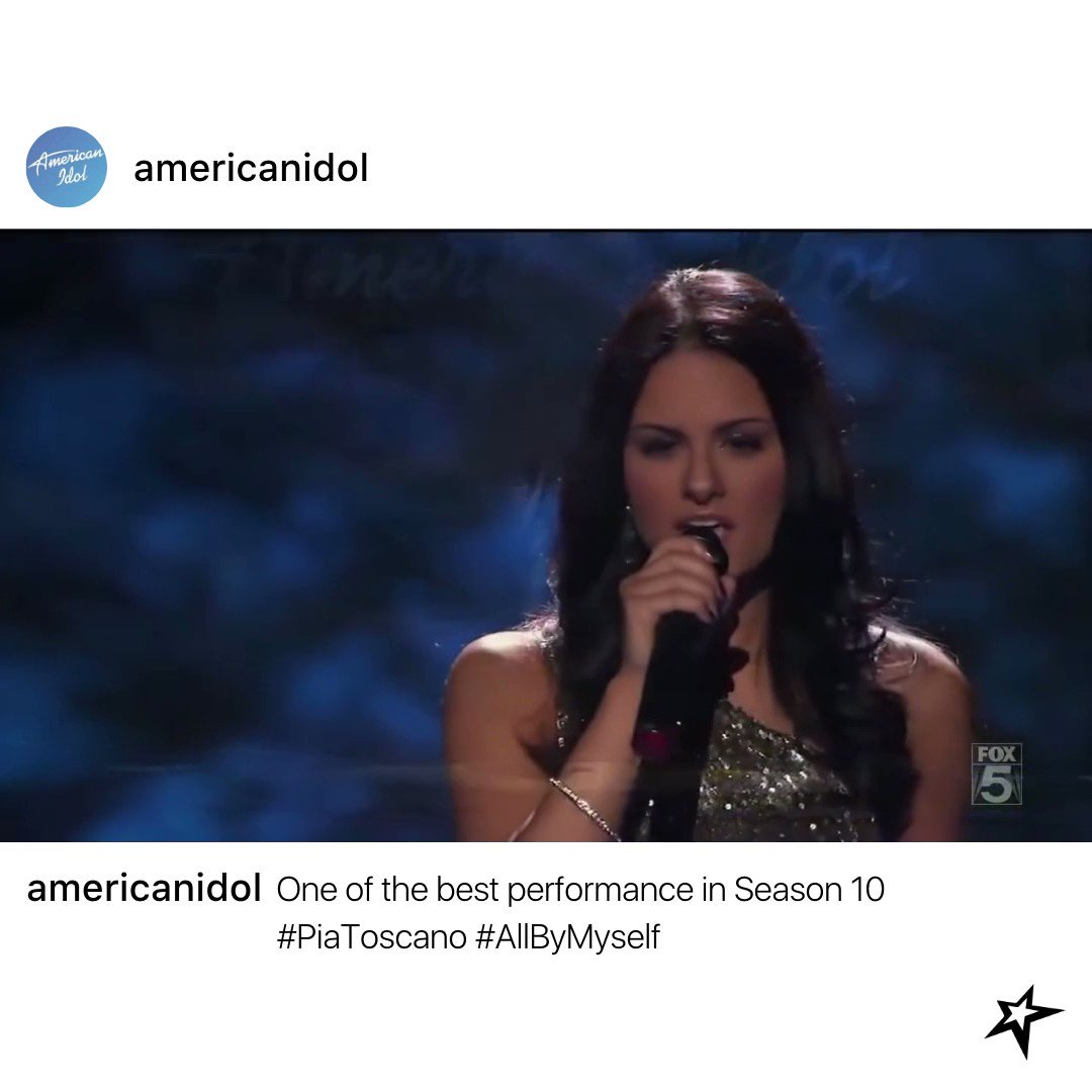 Almost 10 years into this, I am still amazed by her performance 🤩  Here is a chance for you to connect with @PiaToscano on    Credit: AmericanIdol10top12  #throwbackthursday #tbt #piatoscano #americanidol #powerhousevocal #westside #netflix #TheEllenShow