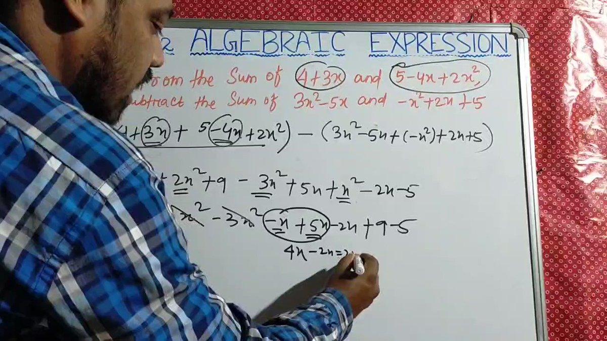 Image for the Tweet beginning: #EX-12.2# NCERT MATHS# CLASS -7#
