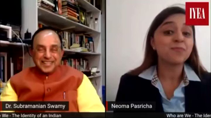 Blessed and overwhelmed by the kind words of Dr. Subramanian @Swamy39 and our Trustee, Indian Youth Economic Association @TheIYEA , Mrs.  Neoma Pasricha. 🙏🏻😇. Keep guiding me and blessing me on the right path.