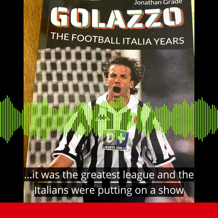DROPPING MONDAY 🎙️  @jonathangrade worked on the iconic Channel 4 show 'Football Italia' and has written a book about his experience. 🇮🇹⚽️  It's a nostalgia-fest.  Sub/catch up:  Apple ➡️    Spotify ➡️    Taster 👇