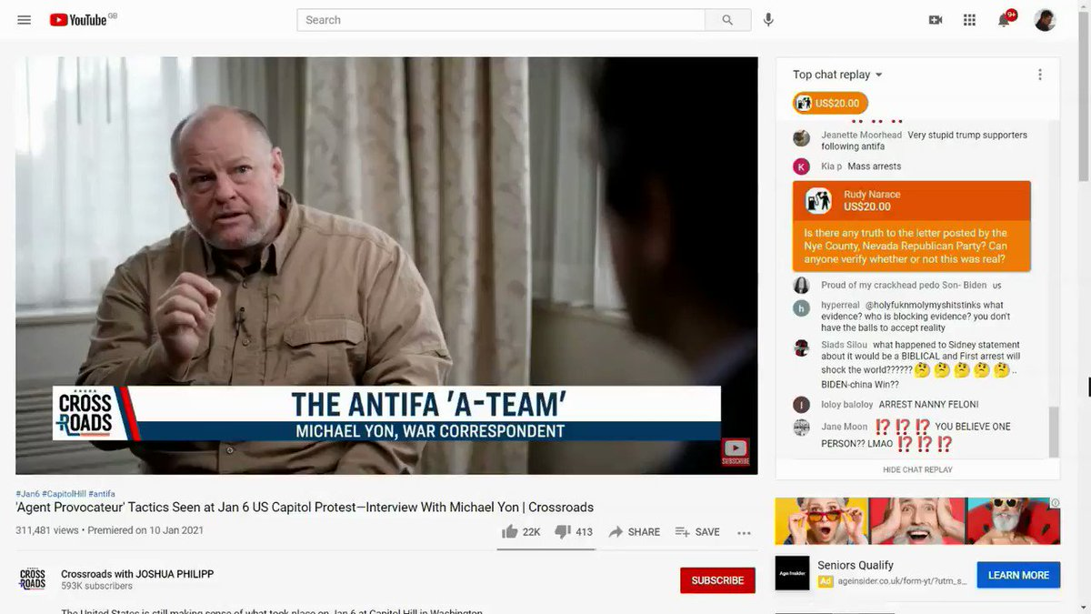"THREAD: YouTube suspended Donald Trump for inciting violence and telling lies.  But YouTube still makes big $$ off videos likes this one blaming ""antifa"" for the riots and talking about ""civil war"".  @YouTube stop profiting from extremism and lies."