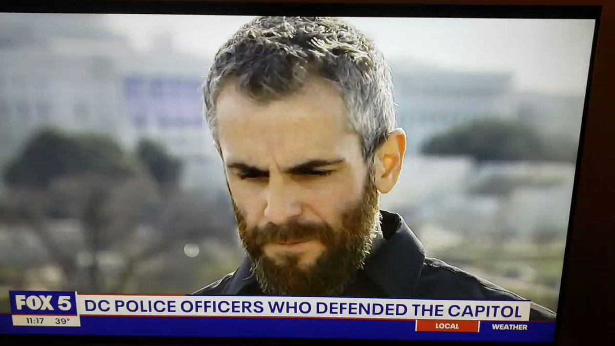 """D.C. police officer Michael Fanone: """"A lot of people have asked me my about thoughts on the people that helped me. And now that I have kind of processed it all I will say, thank you. But fuck you for being there."""""""
