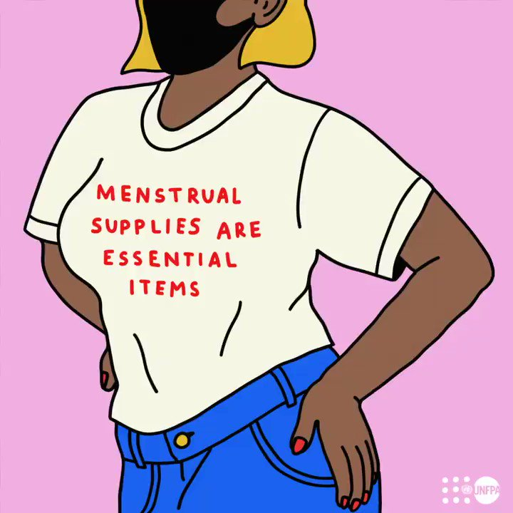 No one should have to struggle to maintain their menstrual hygiene.   Menstrual supplies are essential items. Period.   #MenstruationMatters